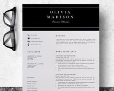 Creative Resume Template CV Template for MS Word and Pages Template Cv, Modern Resume Template, Creative Resume Templates, Cover Letter Template, Microsoft Word 2007, Cv Design, Resume Design, Word Cv, Bio Data For Marriage