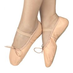 bbb2ec600c5f Girls Pink Leather Ballet Shoes Full Sole