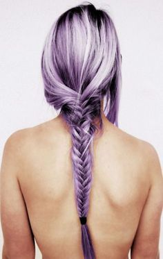 lavender hair pastel braid