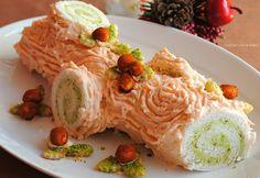tronchetto salato al salmone e pistacchi, senza cottura  NON CONTIAMO LE  CALORIE