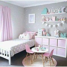 Girls Room Design, Girl Bedroom Designs, Design Bedroom, Bathroom Designs, Baby Zimmer Ikea, Teen Girl Bedrooms, 4 Year Old Girl Bedroom, Small Girls Bedrooms, Baby Bedroom