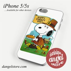 Snoopy Happy Turkey day Phone case for iPhone 4/4s/5/5c/5s/6/6 plus
