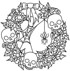 Creepy Christmas Wreath design (UTH5462) from UrbanThreads.com