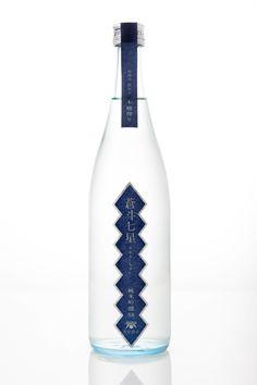青砥酒造。青斗七星/純米吟醸58木槽搾り  酒蔵イメージが紺なのかな。銀の縁取りがシャープ。 Japanese sake