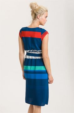 Presley Skye 'Gwen' Stripe Silk Dress | Nordstrom