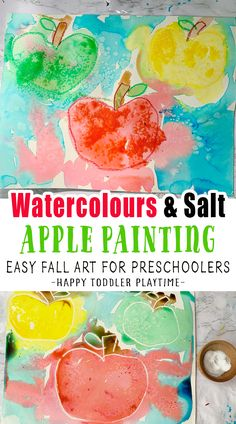 Fall Activities For Toddlers, Lesson Plans For Toddlers, Apple Activities, Kids Learning Activities, Fun Crafts For Kids, Autumn Activities, Preschool Projects, Preschool Art, Apple Painting