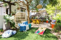Colorful Bohemian Front Yard In Venice Beach Home Tour