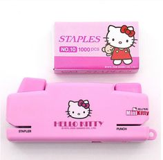 Hello Kitty All in One Stapler Punch Office Home Desk Organizer Stationery Pink #HelloKitty