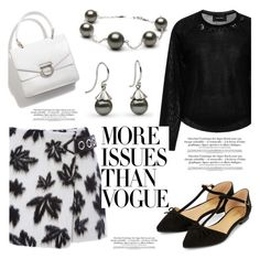 """""""Petal collection earrings"""" by pearlparadise ❤ liked on Polyvore featuring Alexander Wang, Simone Rocha, Accessorize and Printable Wisdom"""