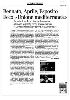 corriere-del-mezzogiorno-15336985 by MeMeEsposito via Slideshare
