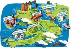 Elly Walton - Map of Mull for Waitrose Magazine