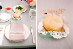 real wedding - peach / pastel morning wedding w/ omelet bar brunch