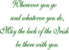 ~Luck of the Irish~