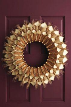Herbstkränze selber machen - 15 DIY Bastelideen - basteln mit Papier