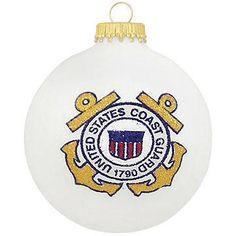 U.S. Coast Guard Emblem Heart Gifts Ornament #Coastguard #ornament #Christmas