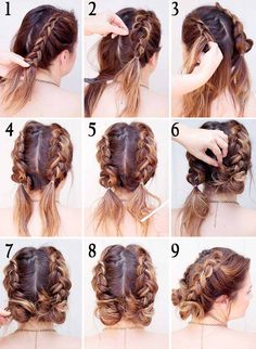 170 Easy Hairstyles Step by Step DIY hair-styling can help you to stand apart fr. - 170 Easy Hairstyles Step by Step DIY hair-styling can help you to stand apart from the crowds - Short Brown Hair, Short Hair Buns, Braids For Short Hair, Braided Hairstyles For Short Hair, Short Hair Braids Tutorial, Hairstyles For Medium Length Hair, Long Hair Dos, Braid Crown Tutorial, Curly Hair Braids