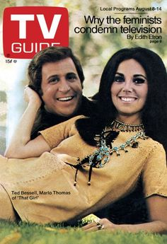TV Guide (8/8/70) - Ted Bessell and Marlo Thomas from 'That Girl'