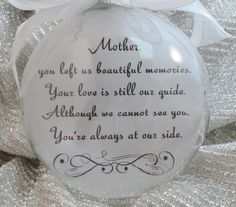 Memorial Glass Ornament You Left Us Beautiful by BrushedByAnAngel Glitter Ornaments, Diy Christmas Ornaments, Christmas Balls, Homemade Christmas, Glass Ornaments, Christmas Holidays, Christmas Decorations, Christmas Stuff, Vinyl Ornaments