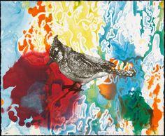 #ARTIST Anne Chu, Blue Jay Monotypes