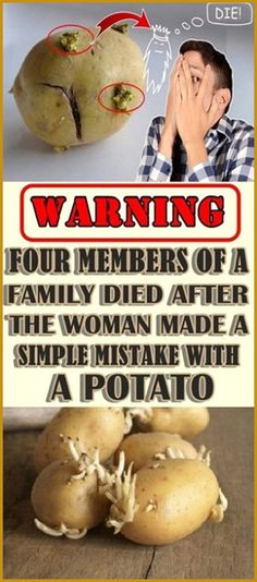 Warning: Four Members Of A Family Died After The Woman Made A Simple Mistake With A Potato! - Organic Remedies Tips Holistic Remedies, Holistic Healing, Natural Healing, Health Remedies, Natural Remedies, Health Guru, Health And Wellbeing, Health And Nutrition, Gut Health