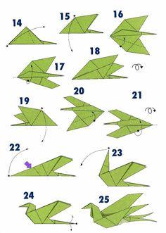 Ласточка из бумаги в стиле оригами сх2 lasto4ka-sh2