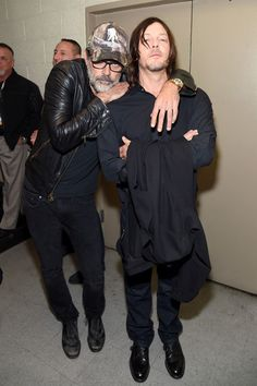"""Norman Reedus Photos Photos - Jeffrey Dean Morgan and Norman Reedus attend AMC presents """"The Walking Dead"""" at New York Comic Con at The Theater at Madison Square Garden on October 8, 2016 in New York City. - AMC Presents 'The Walking Dead' at New York Comic Con"""