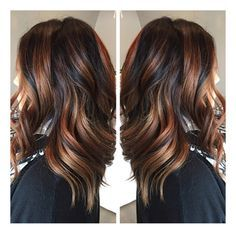 New technique called Ecaille! It means Tortoise Shell! A blend of soft highlights paired with dark and rich toned, cascading into lighter tones! Done by Brooke from Tress Salon and Spa 559.395.4402