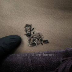 "304 Likes, 8 Comments - Matthew Barnett (@matthew_barnett) on Instagram: ""Did my little sister's first tattoo.  Sorry mom!  Smallest roses I've ever done.  The whole tattoo…"""
