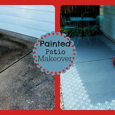 Fun and Fresh Painted Patio Makeover