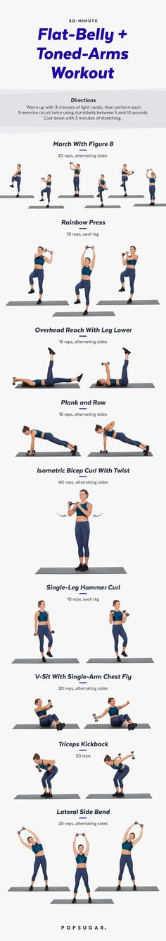 20-Minute Flat-Belly and Toned-Arms Workout | Posted By: AdvancedWeightLossTips.com