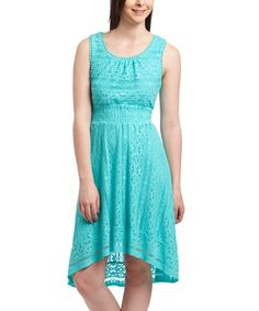Look at this Rabbit Rabbit Rabbit Designs Mint Lace Fit & Flare Dress on #zulily today!