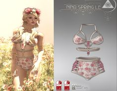 Nina Spring Roses Crown And Lingerie The floral pink and white lingerie is a midnight madness prize. The roses crown is a freebie gift on a tree stem in front of the madness board. Let your friends know to reach the target. Try playing apple bob, too for some bracelets. Group: not required Location: . …