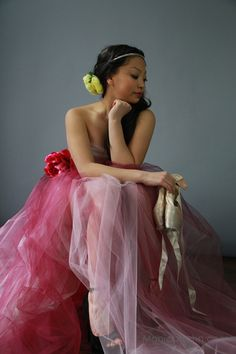 """Maya in my """"Frock"""" inspired by photographer, Sue Bryce."""
