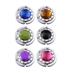 Amazon.com: Purse Hooks , Set Of 12 Pcs Colorful Purse Hooks Crystal Diamond
