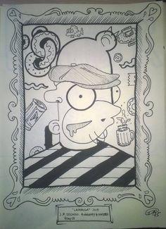 Davide Bozza - Pablo Picasso - illustration - #inktober #inktober2015 #inktobersonry #massoneriacreativa -www.massoneriacreativa.com