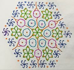 Big Rangoli Designs, Beautiful Rangoli Designs, Dots Design, Design Art, Rangoli With Dots, Indian Art, Culture, Traditional, Indian Artwork