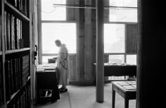 Library in the monastery of Sainte-Marie de la Tourette built by Le Corbusier, Éveux, 1960