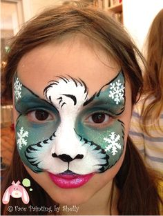 face painting, snow leopard, kids party, birthday, snowflakes #facepainting…