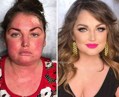 16 Before And After Makeup Transformations Photos – Power of Makeup … – Best Beauty Tips Airbrush Makeup, Contour Makeup, Contouring And Highlighting, Makeup Tips, Beauty Makeup, Eye Makeup, Hair Makeup, Makeup Tutorials, Beauty Makeover
