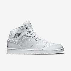 4a75b22c2d Air Jordan 1 Mid Men's Shoe Jordan 1 Mid, Air Jordan 3, White Nikes
