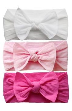 Baby Bling Bow Stretch Headband (3-Pack) (Baby Girls) (Online Only)    Nordstrom 80a229781b9