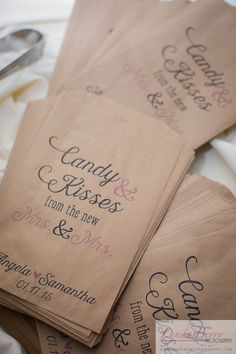 Candy bar decor... Candy and Kisses from the new Mrs. and Mrs. | Lynda Berry Photography