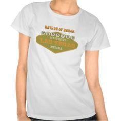 Matron of Honor Las Vegas Wedding Shirt two tone
