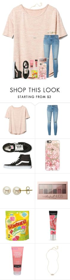 """""""How bout dah?? Makes me laugh all the time """" by kari-luvs-u-2 ❤ liked on Polyvore featuring Gap, Current/Elliott, Vans, Casetify, Lord & Taylor, Maybelline, Beauty Rush, Neutrogena and Kendra Scott"""