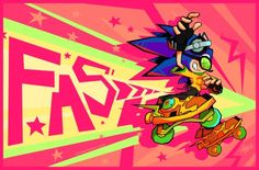 """cosmicremix: """" I know I'm not the first person to think of this crossover I just wanted to vomit eyeburning colors okay? Sonic Fan Art, Jet Set Radio, Graffiti Painting, Air Gear, Character Wallpaper, Video Game Characters, Illustrations And Posters, Looks Cool, Cool Artwork"""