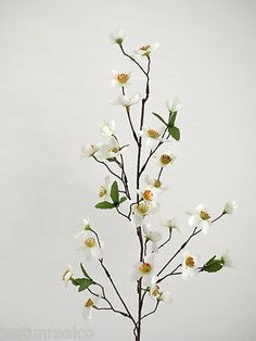 #Artificial silk #flowers,plum #blossom spray cream fls,  View more on the LINK: http://www.zeppy.io/product/gb/2/152045596873/