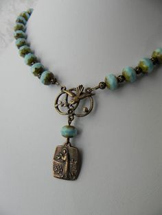 Prayer of St. Francis Rosary Style Necklace by FaithBeads, $60.00 on Etsy