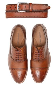 Main Image - Johnston & Murphy Perforated Leather Belt