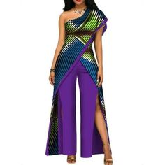 African Fashion Elegant Boho Colorful Plus Size Sexy Rompers Womens Purple Slim . at Diyanu African Fashion Elegant Boho Colorful Plus Size Sexy Rompers Womens Purple Slim . at Diyanu Source by ac African Fashion Ankara, African Print Fashion, African Wear, African Dress, African Prints, Rompers Women, Jumpsuits For Women, African Jumpsuit, Ankara Jumpsuit