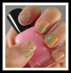 water marble with Zoya Beach collection